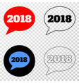 2018 message balloon eps icon with contour vector image