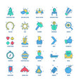 25 business concept mix flat color icon set