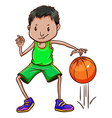A boy wearing a green uniform vector image vector image