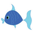 a small little blue fish is swimming under the vector image vector image
