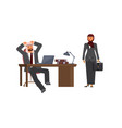 arabic business man and business woman vector image vector image