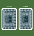 Back design playing card vector image vector image