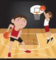 basketball player cartoon vector image vector image