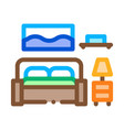 bedroom icon outline