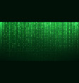 binary matrix code green abstract background vector image