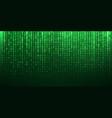 binary matrix code green abstract background vector image vector image