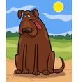 brown big dog cartoon vector image vector image