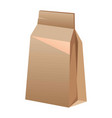 brown paper bag for food isolated on white vector image vector image
