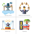 Business and finance marketing and management vector image vector image