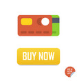 buy now button with credit cards buy now vector image