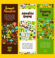 camping vertical flyer set vector image