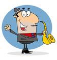Cartoon musician vector image