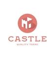 Castle fortress brand logo design trendy flat vector image vector image