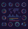 circular digital hud visualisation data elements vector image vector image