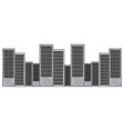 city building architecture urban town ladnmark vector image vector image