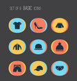 clothes icons set collection of stylish apparel vector image vector image