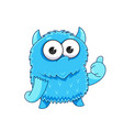 cute cartoon monster with a thumbs-up sign vector image