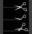 cutting stationery scissors icons and points line vector image