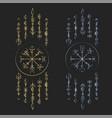 dark runic symbols dreamer deco vector image vector image