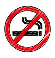 denied cigarette signal isolated icon vector image