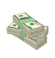 Dollars vector image