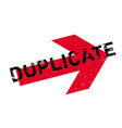 duplicate rubber stamp vector image vector image