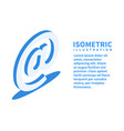 e-mail sign icon isometric template vector image