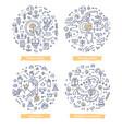 employee motivation doodle concepts vector image vector image