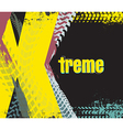 exreme rally car background vector image