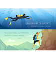 Extreme Sports 2 Flat Horizontal Banners vector image