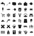 fishing icons set simle style vector image vector image