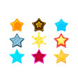 five-point colorful cartoon star set for flash vector image vector image