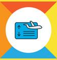 flight board icon colored line symbol premium vector image vector image