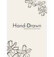 Flower template card vector image vector image