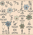 Fun and fanciful neutral wrought iron floral