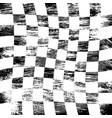 grunge racing flag vector image