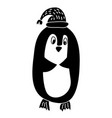 hand draw of funny penguin in vector image