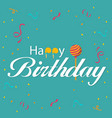 happy birthday ribbon candy background imag vector image