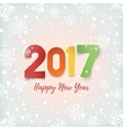 Happy New Year 2017 greeting card template vector image vector image