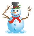 Happy snowman vector image vector image