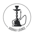 Hookah lounge emblem - shisha bar vector image vector image