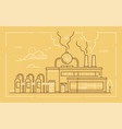 industrial building - modern line design style vector image