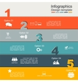Infographic report template with numbers and icons vector image vector image