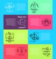 international peace day 8 pics vector image