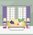 living room cozy furniture vector image vector image