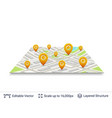 location pins on city plan vector image vector image