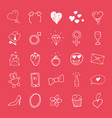 love and valentine doodle icons hand drawn signs vector image vector image