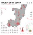 map congo epidemic and quarantine emergency vector image