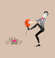 Mime performance - Sticking vector image vector image