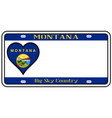montana state license plate vector image vector image
